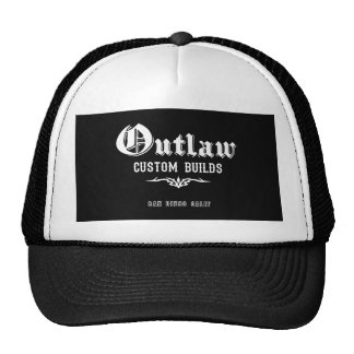 Outlaw Custom Builds Hot Rod cap Trucker Hats