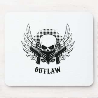OUTLAW cute, beautiful, Mouse Pad