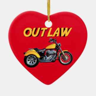 Outlaw Gold Trike Ceramic Ornament