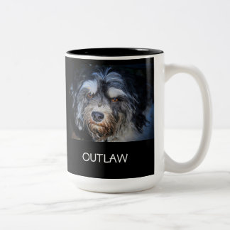 Outlaw Havanese Two-Tone Coffee Mug