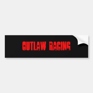 OUTLAW RACING Bumper Sticker