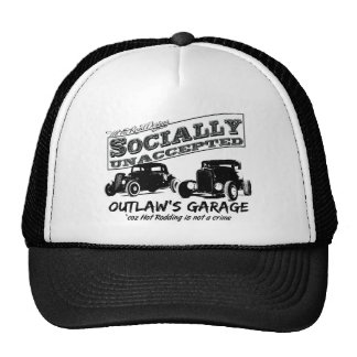 Outlaw's Garage. Socially unaccepted Hot Rods Cap