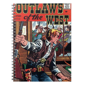 Outlaws of the West Vintage Cover Notebook