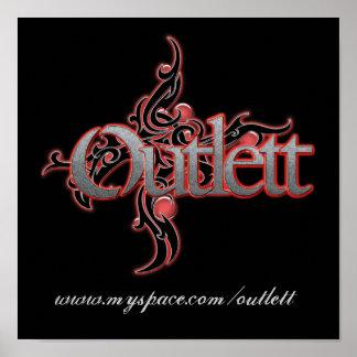 Outlett Tribal Swirl Poster