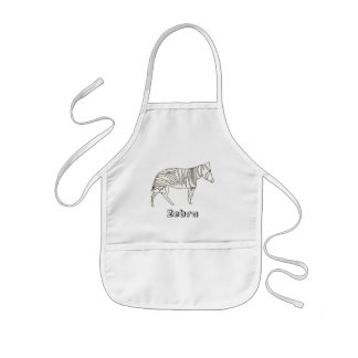 Outline Art - Drawing of a zebra, aprons