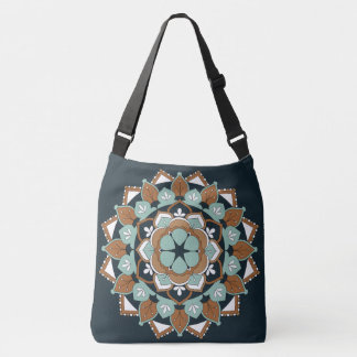 Outline & Colored Floral Mandala Design 060517_1 Crossbody Bag