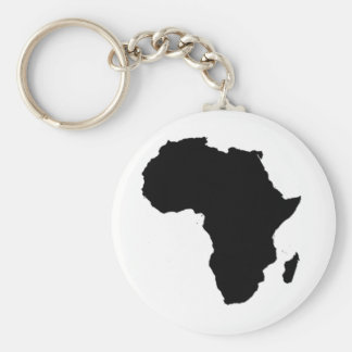 Outline of Africa Basic Round Button Key Ring