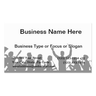 Outline of conductor and band black on white business cards