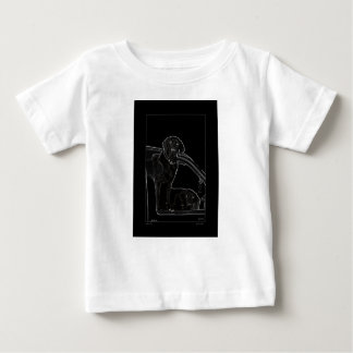 Outline of Labrador Kids T Baby T-Shirt