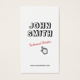 Outline Text Technical Writer Business Card