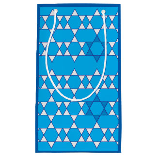 Outlined Jewish Stars Gift Bag