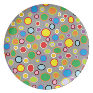 Outlined Polka Dots Plate