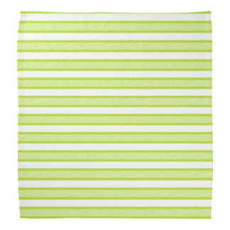 Outlined Stripes Lime Green Bandana