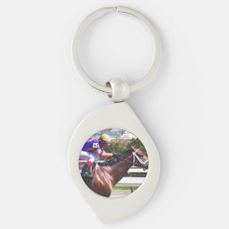 Outplay & Velasquez Silver-Colored Swirl Key Ring