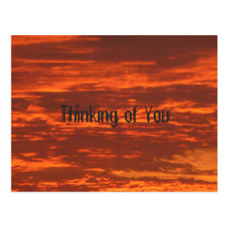 Outrageous Orange Sunrise Thinking of You Postcard