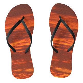 Outrageous Orange Sunrise Thongs