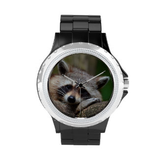 Outrageously Cute Baby Raccoon Wrist Watch