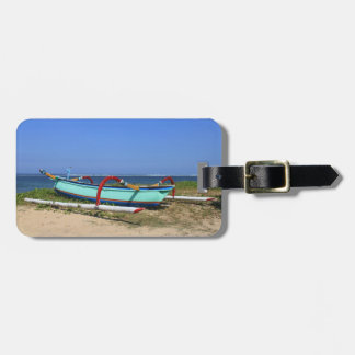 Outrigger boat luggage tag