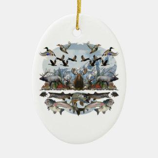 Outside life ceramic ornament