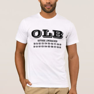 Outside linebacker jersey numbers Tee-shirt T-Shirt