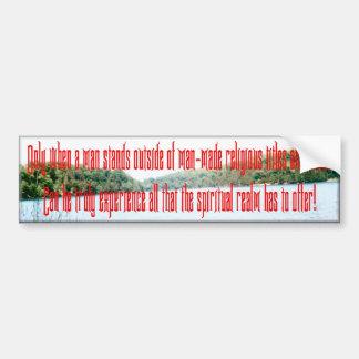 Outside Religion Bumper Sticker