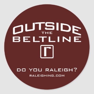 Outside the Beltline Sticker, Small Classic Round Sticker