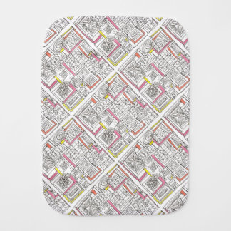 Outside The Box-Abstract Geometric Doodle Burp Cloth