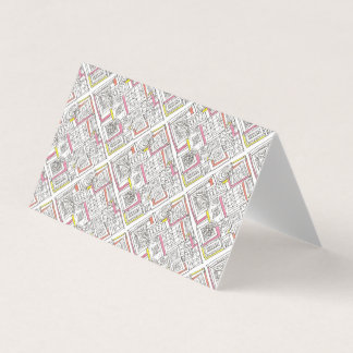Outside The Box-Abstract Geometric Doodle Business Card