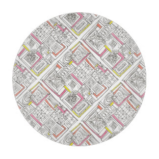 Outside The Box-Abstract Geometric Doodle Cutting Board
