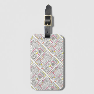 Outside The Box-Abstract Geometric Doodle Luggage Tag