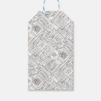 Outside The Box-Black and White Geometric Pattern