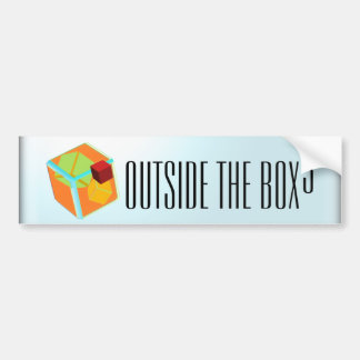 Outside the box bumper sticker