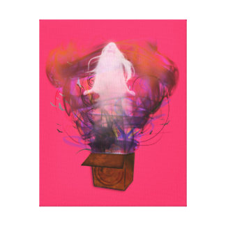 Outside the Box - Inverted (Pink BG) Stretched Canvas Prints