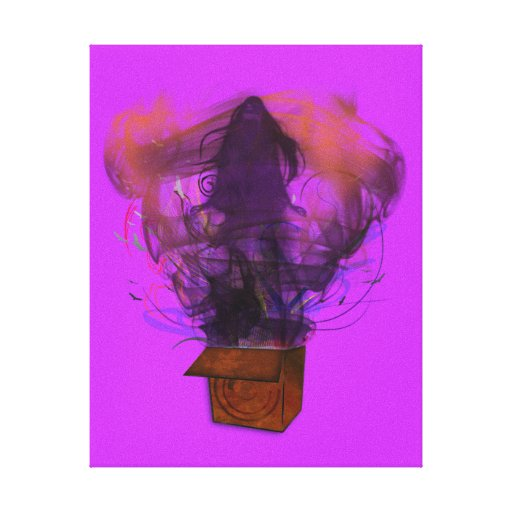 Outside the Box -Original (Purple) Stretched Canvas Prints