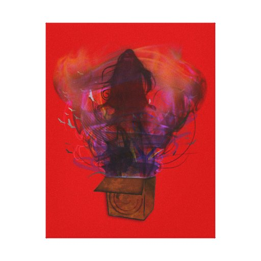 Outside the Box -Original (Red) Canvas Print