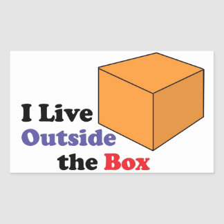 Outside the Box Rectangular Sticker