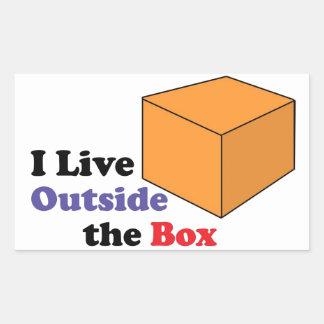 Outside the Box Rectangle Sticker