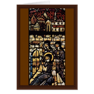 Outside The Walls Of St. Clare Of Assisi By Meiste Greeting Card