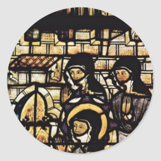 Outside The Walls Of St. Clare Of Assisi By Meiste Round Sticker