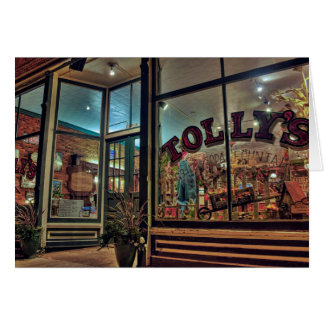 Outside Tolly's Soda Fountain Card