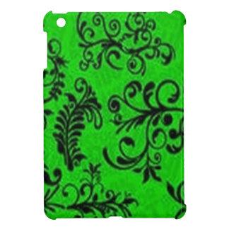 Outstanding green floral design iPad mini case