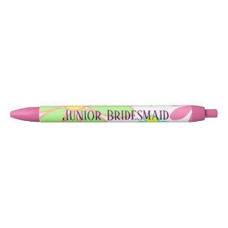Outstanding Green Floral Junior Bridesmaid Black Ink Pen