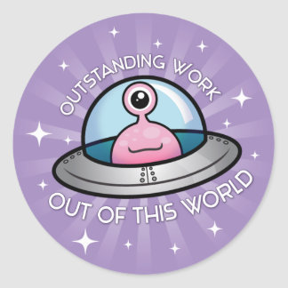 Outstanding Work Alien Sticker