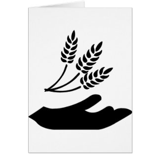 Outstretched Hand and Wheat Greeting Card