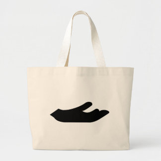 Outstretched Hand Jumbo Tote Bag