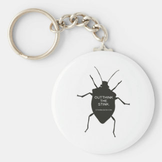 Outthink The Stink (Bug) Basic Round Button Key Ring