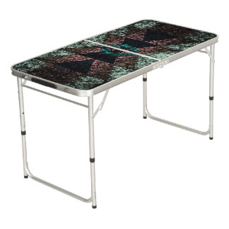 OutwornTribal Aztek Pattern Beer Pong Table