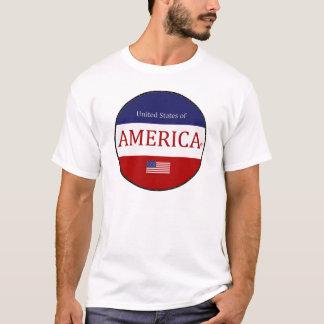 Oval America Colours Modern Designer T-Shirt