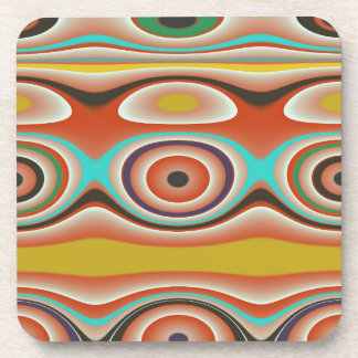 Oval and Circle Pattern Design in Southwestern Beverage Coaster