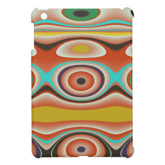 Oval and Circle Pattern Design in Southwestern Cover For The iPad Mini